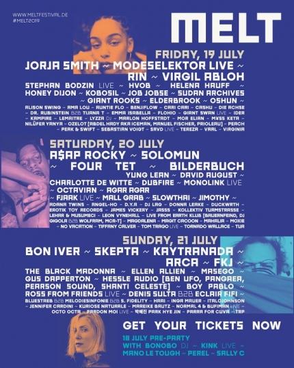 Kompletny line up Melt Festivalu z podziałem na dni